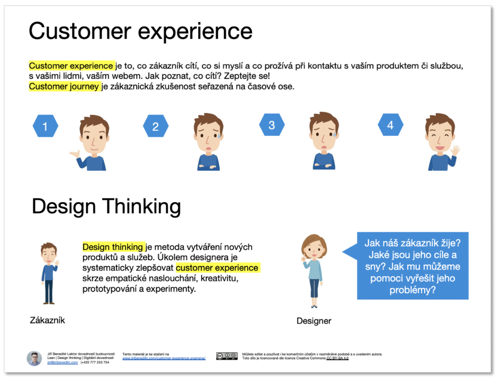 Customer experience a design thinking